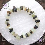 Jade & Russian Serpentine Crystal Chip Stretch Bracelet